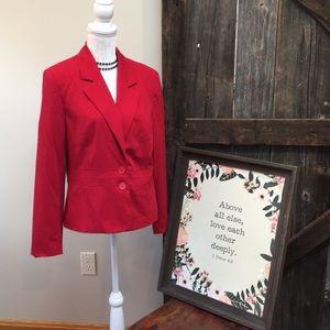 Bold Red Plus Sized Blazer